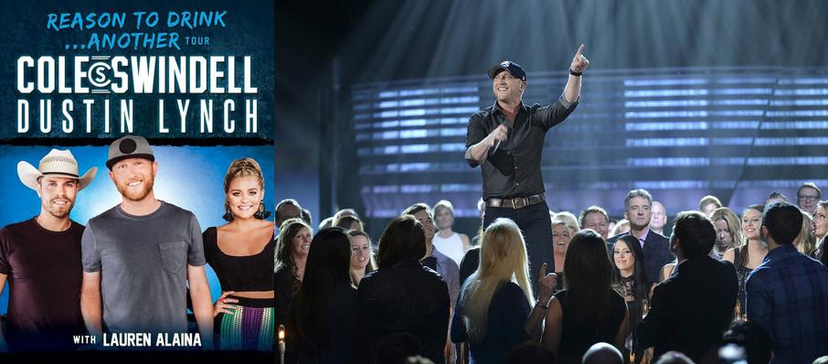 Cole Swindell and Dustin Lynch at Bold Sphere at Champions Square