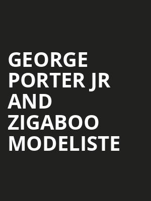 George Porter Jr and Zigaboo Modeliste at The Fillmore